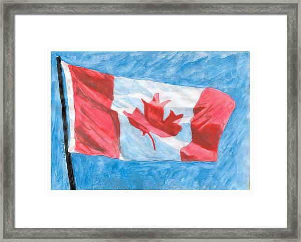 Canada Day Framed Print