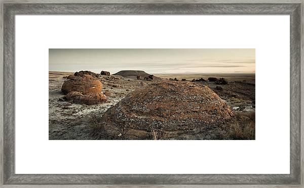 Canadian Badlands Framed Print