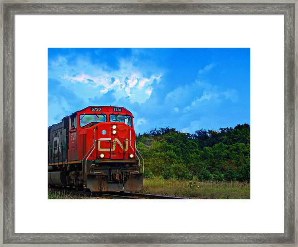 Canadian Northern Railway Train Framed Print