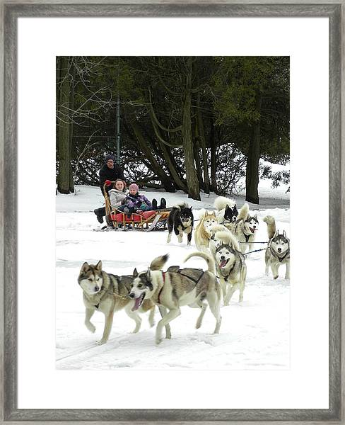 Canadian Winter Framed Print