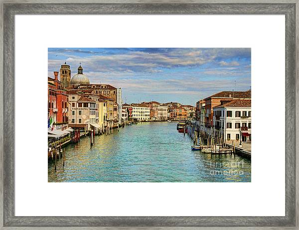 Canals Of Venice  Framed Print