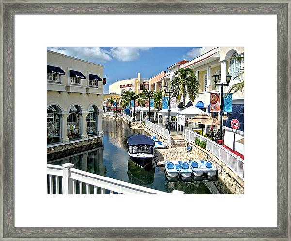 Cancun Shopping Framed Print