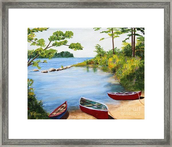 Canoe Inlet Framed Print by Pauline Ross