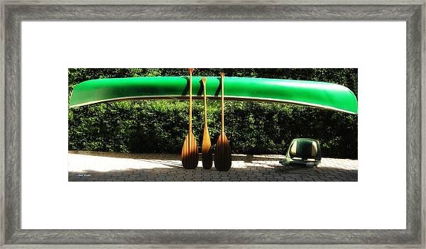 Canoe To Nowhere Framed Print
