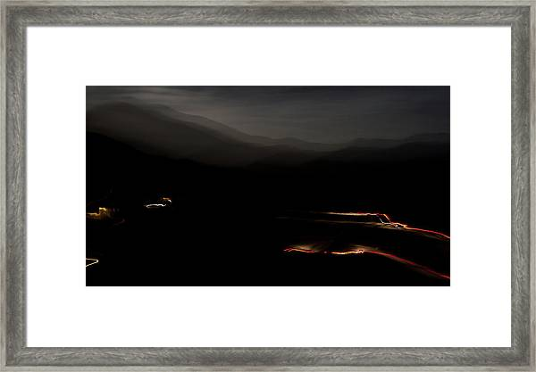Canoncito At Night Framed Print