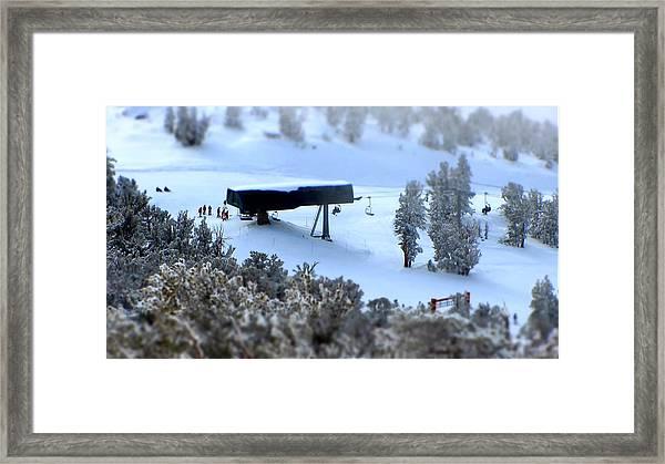 Canyon Chair Heavenly Ski Resort Framed Print