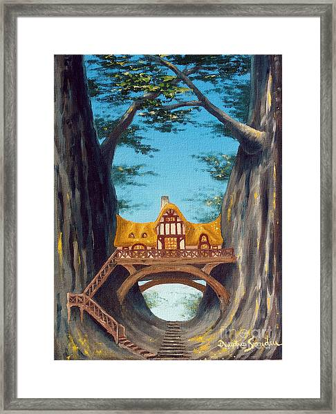 Canyon Cottage From Arboregal Framed Print