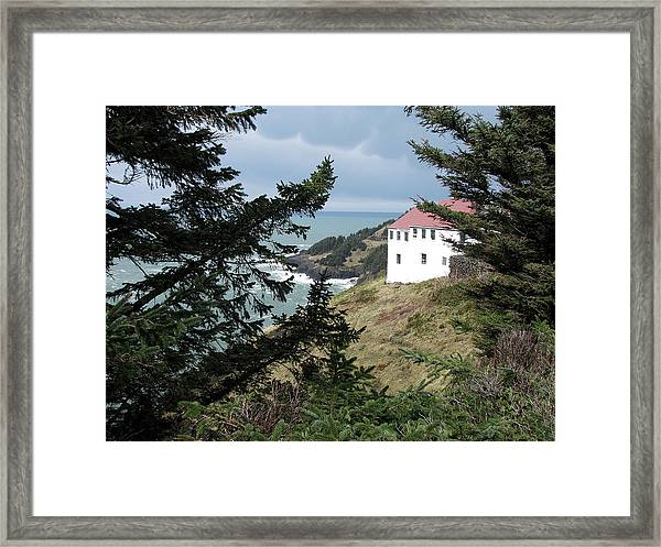 Cape Foulweather Clouds Framed Print