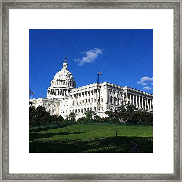 #capitolhill #washingtondc #washington Framed Print