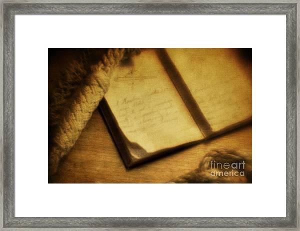 Captain's Journal Framed Print