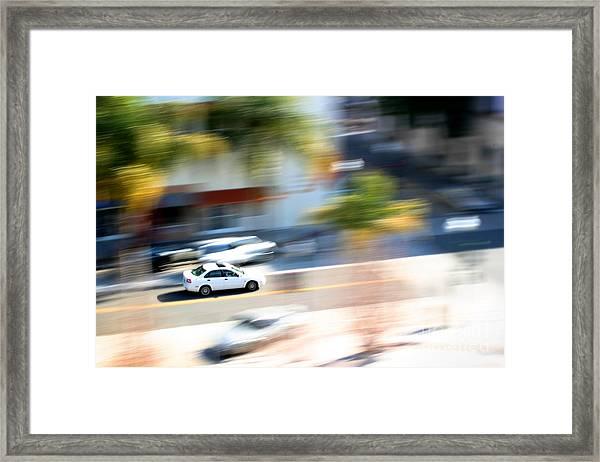 Car In Motion Framed Print