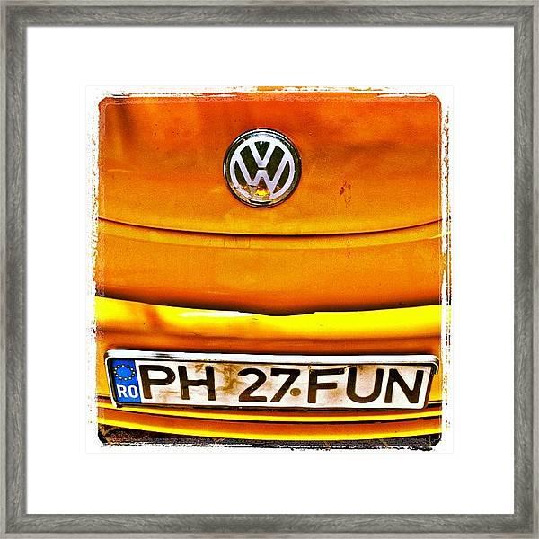 #car #volkswagen #volkswagenbeetle Framed Print