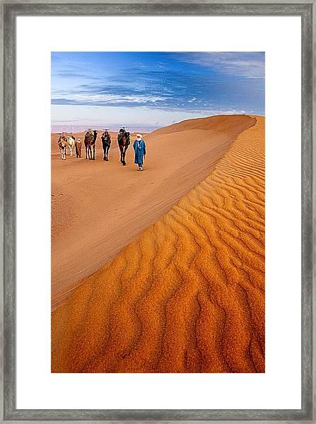 Caravan On The Desert Framed Print