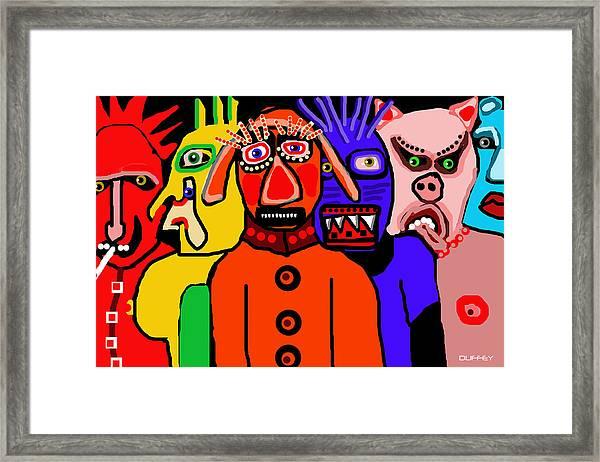 Carnavale 5a Framed Print