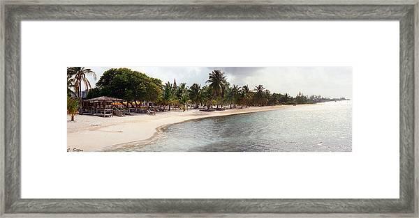 Carribean Shore Framed Print
