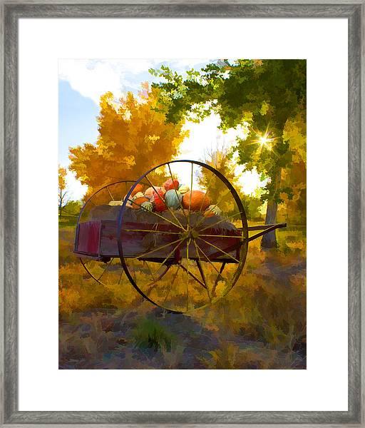 Cart Of Plenty Framed Print