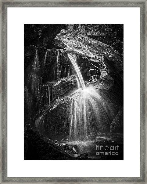 Cascade Detail Framed Print