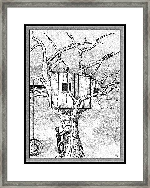 Castle In The Tree - A Childhood Dream Framed Print