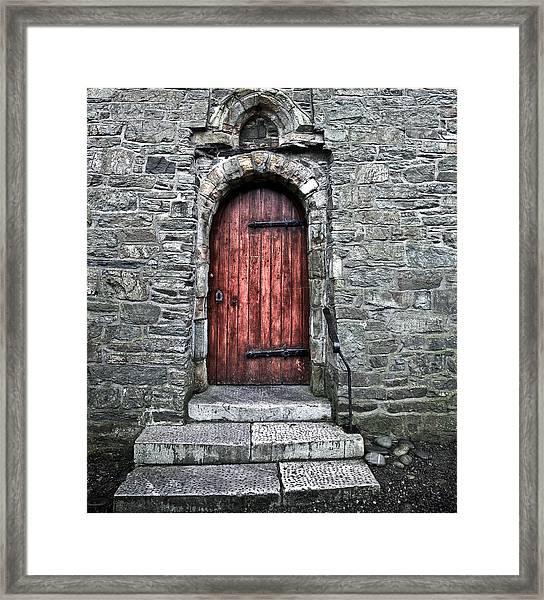 Cathedral Door Framed Print by Patrick  Flynn