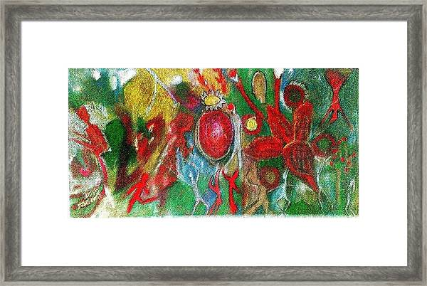 Celebration Of Life.. Be.. 7 Framed Print by Rooma Mehra