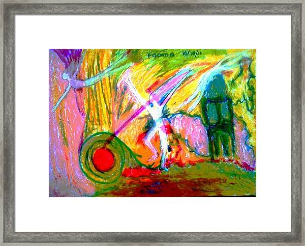 Celebration Of Life.. Be.. 9 Framed Print by Rooma Mehra