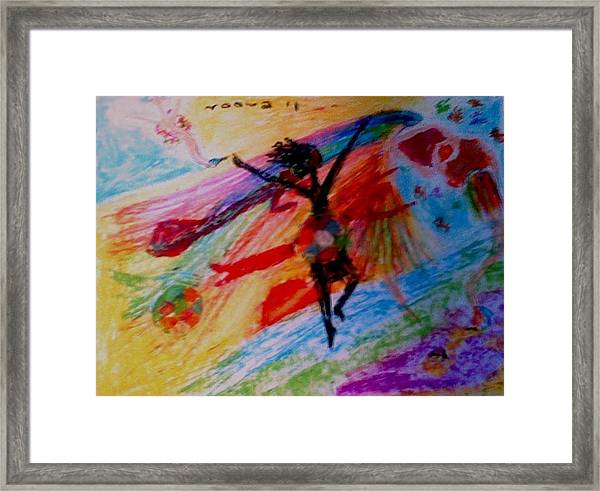 Celebration Of Life.. Be..2 Framed Print by Rooma Mehra