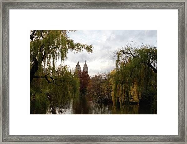 Framed Print featuring the photograph Central Park Autumn by Lorraine Devon Wilke