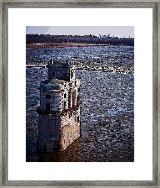 Chain Of Rocks East Water Tower Framed Print