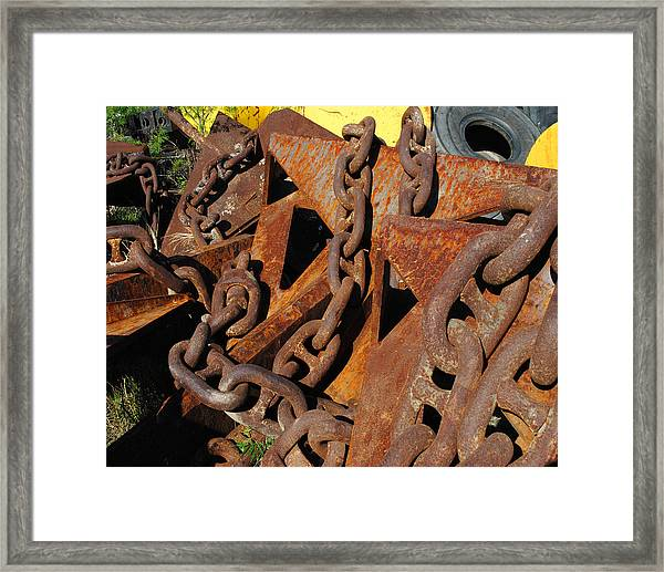 Chains And Anchors Framed Print