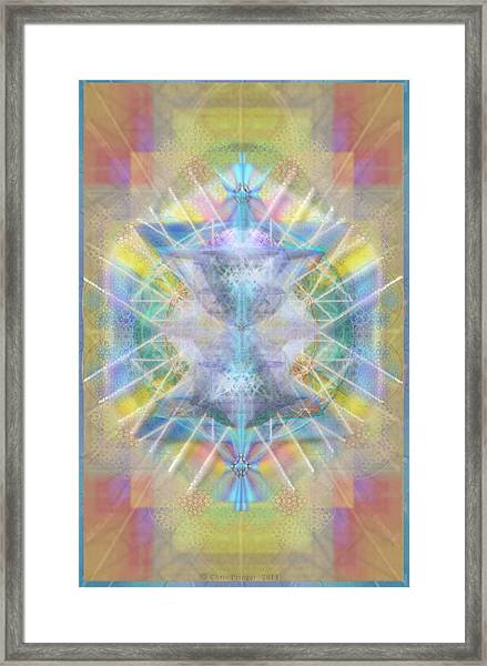 Chalice Of Vortexes Chalicell Rings On Renaissance Back Framed Print by Christopher Pringer