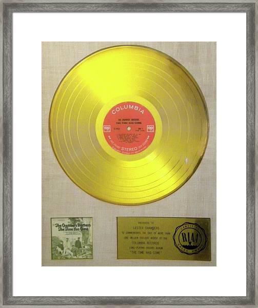 Chambers Brothers Gold Record Framed Print