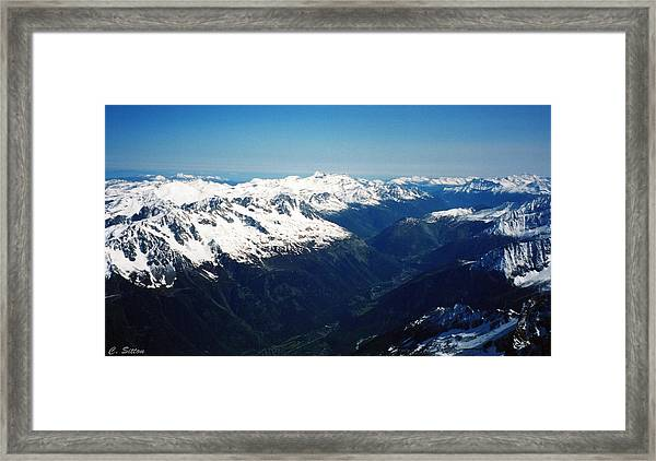 Chamonix Resort Overview Framed Print