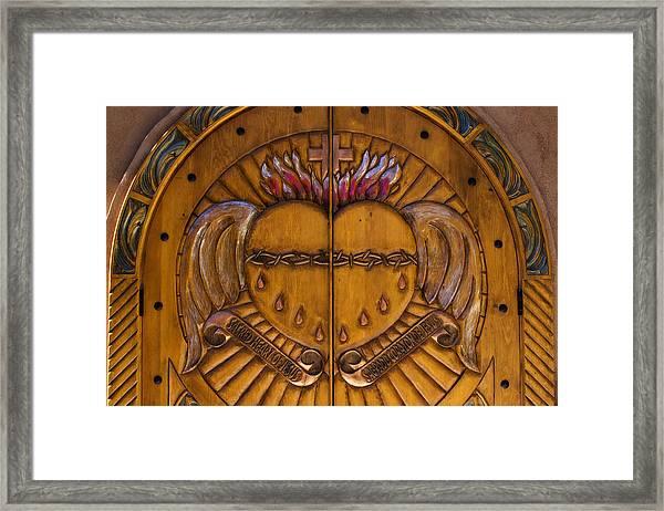 Chapel Doors Framed Print