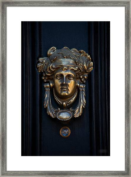 Charleston Brass Door Knocker Framed Print by Melissa Wyatt