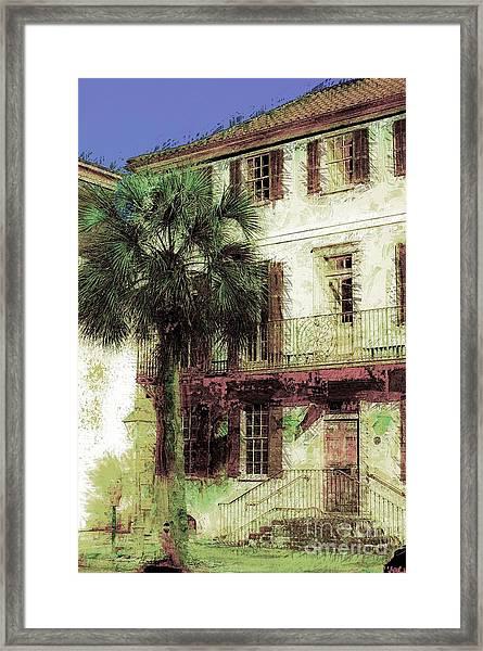 Charleston Homes Framed Print