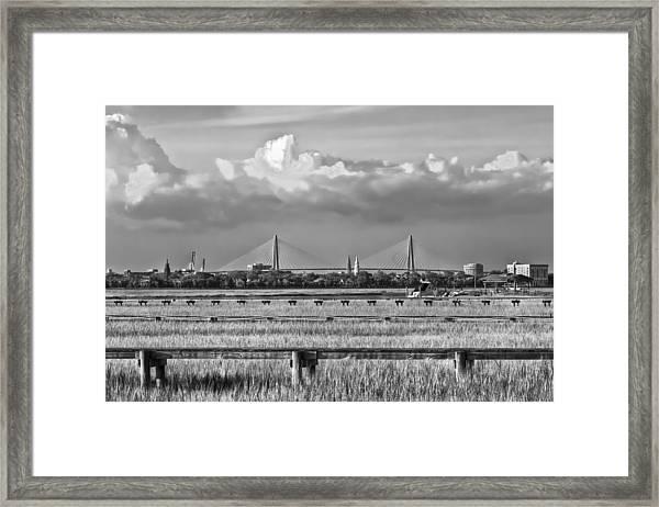 Charleston Skyline Framed Print by Drew Castelhano