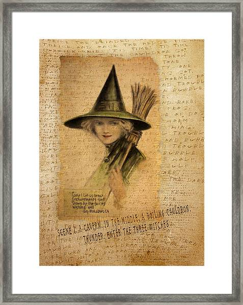 Charming Witch Framed Print