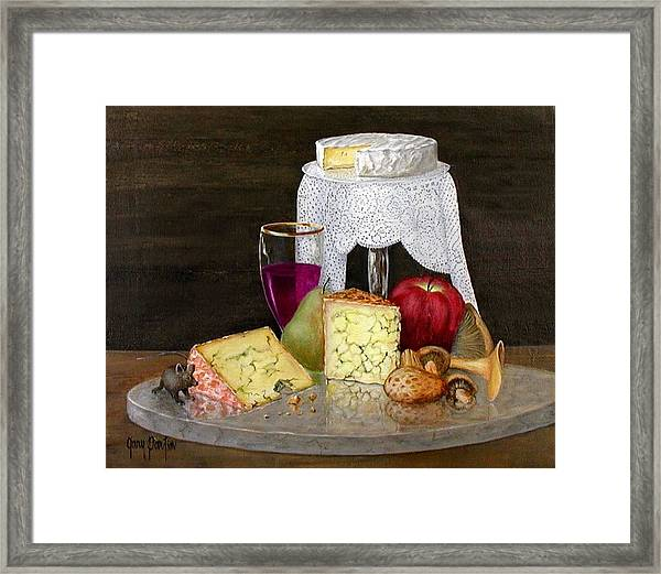 Cheese Delight Framed Print