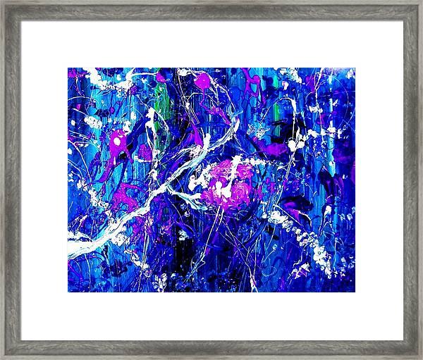 Cherry Blossom Explosion Framed Print