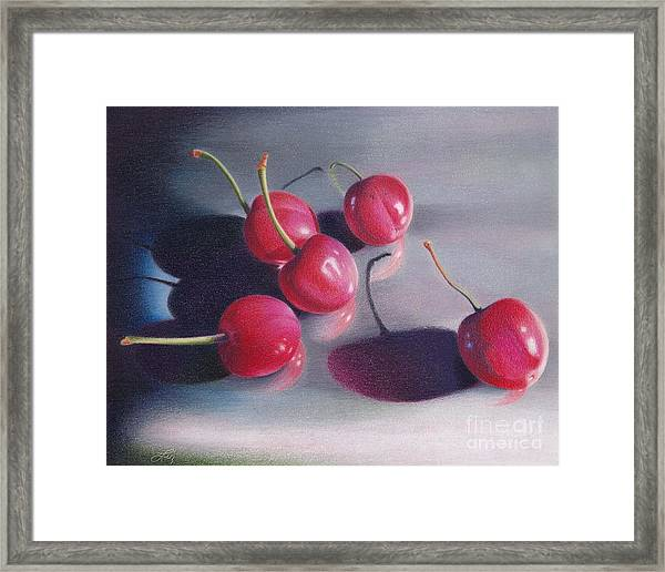 Cherry Talk Framed Print