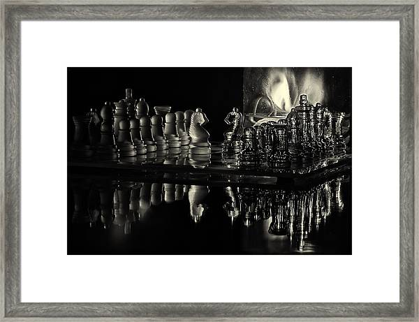 Chess By Candlelight Framed Print