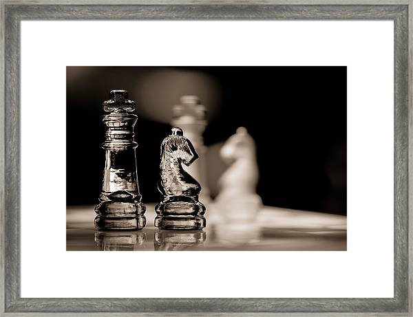 Chess King And Knight Framed Print