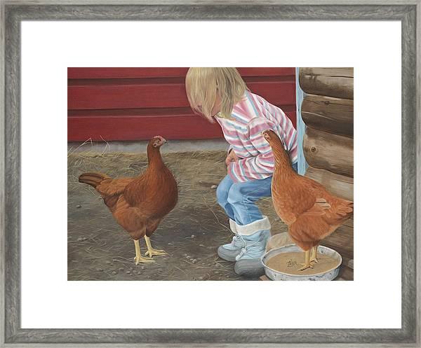 Chicken Talk Framed Print