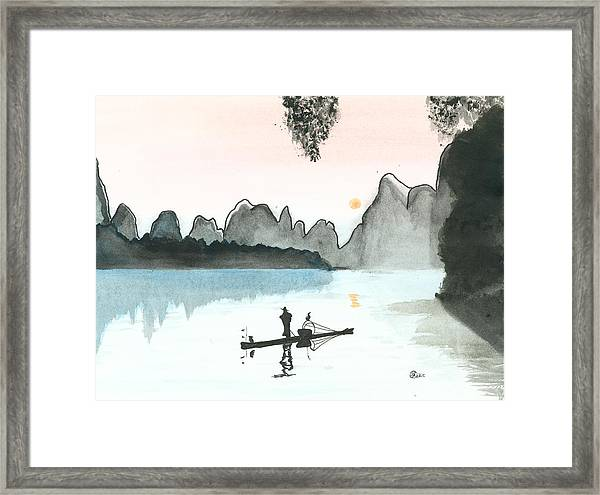 1e3ee15f4 Chinese Fisherman Framed Print by Kiana Gonzalez