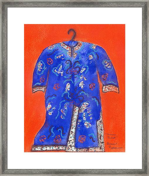 Chinese Jacket Framed Print by Susan Risse