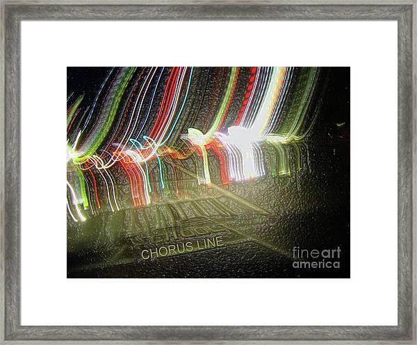 Chorus Line Framed Print