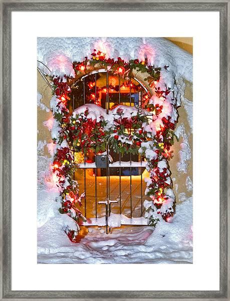 Christmas Gate Framed Print