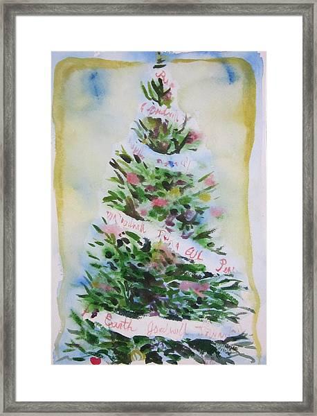 Christmas Tree Framed Print