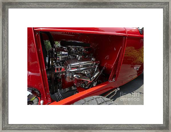 Chrome Engine Framed Print