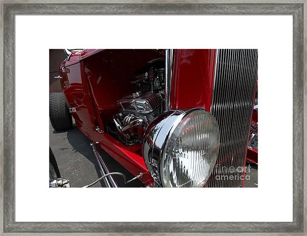 Chrome Engine Vintage Car Framed Print